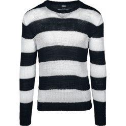 Urban Classics Striped Sweater Sweter z dzianiny czarny/biały. Niebieskie swetry klasyczne męskie marki Urban Classics, l, z okrągłym kołnierzem. Za 121,90 zł.
