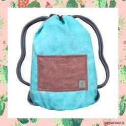 PINK CACTUS & BLUE dwustronny plecak SACK IT. Szare plecaki męskie marki Pakamera. Za 165,00 zł.