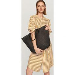 Shopper bag damskie: Duża torba shopper – Czarny