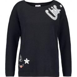 Sweter w kolorze granatowym. Niebieskie swetry klasyczne damskie marki Taifun, z wełny, z okrągłym kołnierzem. W wyprzedaży za 130,95 zł.