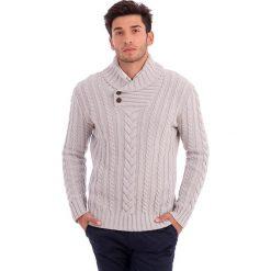 Swetry rozpinane męskie: Sweter w kolorze szarym