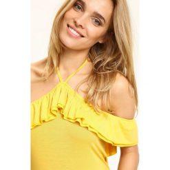BLUZKA DZIANINOWA HISZPANKA. Szare bluzki hiszpanki marki Born2be, s, w kwiaty, z długim rękawem. Za 29,99 zł.