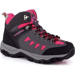 """Buty trekkingowe damskie: Buty trekkingowe """"Manastu"""" w kolorze szaro-różowym"""