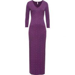 Sukienka wieczorowa bonprix ciemny lila. Fioletowe sukienki koktajlowe bonprix. Za 179,99 zł.