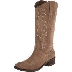 Kentucky's Western Kowbojki i Buty motocyklowe vison. Brązowe buty zimowe damskie marki Kentucky's Western, z materiału. W wyprzedaży za 439,20 zł.