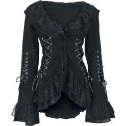 Poizen Industries Cord Lace Sweter rozpinany damski czarny. Czarne swetry rozpinane damskie Poizen Industries, l, z aplikacjami, z koronki. Za 144,90 zł.