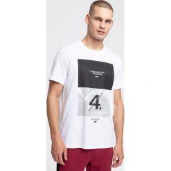 T-shirty męskie: T-shirt męski TSM268 - biały