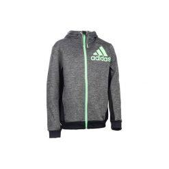 Bluza z kapturem Adidas. Czarne bluzy chłopięce rozpinane Adidas, z kapturem. Za 199,99 zł.