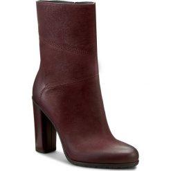 Botki GINO ROSSI - Yumiko DBH130-T20-4B00-7800-0 34. Czerwone buty zimowe damskie marki Gino Rossi, z nubiku, na obcasie. W wyprzedaży za 299,00 zł.