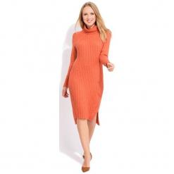 Fille Du Couturier Sukienka Damska Avril 42 Pomarańcz. Pomarańczowe sukienki na komunię Fille Du Couturier, na co dzień, z materiału, z długim rękawem. W wyprzedaży za 230,00 zł.
