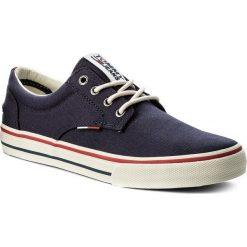 Tenisówki TOMMY JEANS - Textile Sneaker EM0EM00001 Ink 006. Niebieskie tenisówki męskie marki Tommy Jeans, z gumy. W wyprzedaży za 199,00 zł.