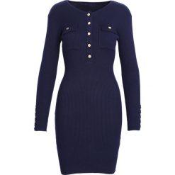 Granatowa Sukienka Keep Turning. Niebieskie sukienki dzianinowe marki Born2be, na jesień, l. Za 99,99 zł.