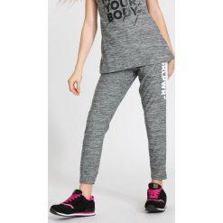 Buty sportowe dziewczęce: Spodnie sportowe dla dużych dziewcząt JSPDTR400 – CIEPŁY JASNY SZARY