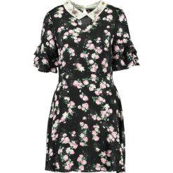 Sukienki hiszpanki: Topshop EMBELLISED COLLAR TEA DRESS Sukienka letnia black