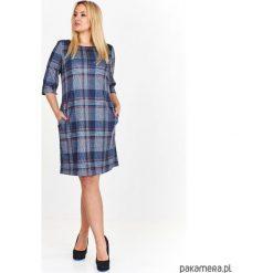Sukienka Mirena z kieszeniami. Niebieskie sukienki na komunię marki Pakamera, z bawełny. Za 289,00 zł.