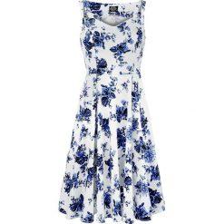 H&R London Blue Rosaceae Swing Dress Sukienka wielokolorowy. Niebieskie sukienki balowe H&R London, s, z nadrukiem, na ramiączkach. Za 184,90 zł.