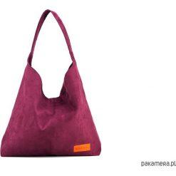 Duża torba worek MC7 - burgund. Czerwone torebki klasyczne damskie Pakamera, z bawełny, duże. Za 169,00 zł.