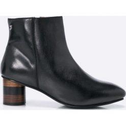 Gioseppo - Botki. Czarne buty zimowe damskie Gioseppo, z materiału. W wyprzedaży za 219,90 zł.