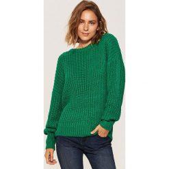 Sweter oversize - Zielony. Niebieskie swetry oversize damskie marki House, m. Za 69,99 zł.