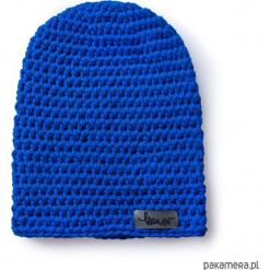 Czapka dziana KRAFF EMERALD handmade. Niebieskie czapki zimowe damskie Pakamera, z dzianiny. Za 109,00 zł.
