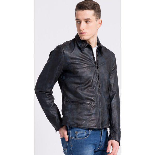 Trussardi Jeans - Kurtka skórzana. Czarne bez kategorii marki Trussardi Jeans, z jeansu, na obcasie. W wyprzedaży za 1499,00 zł.