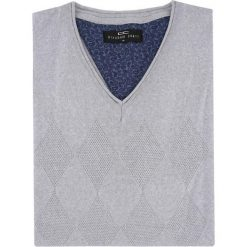 Sweter SWP000058 DARIO. Niebieskie swetry klasyczne męskie marki Giacomo Conti, m, z tkaniny, klasyczne. Za 229,00 zł.