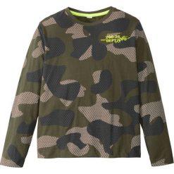 Odzież dziecięca: Shirt w deseń moro, długi rękaw bonprix ciemnooliwkowy wzorzysty