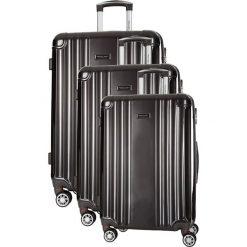 Zestaw walizek w kolorze szarym - 3 szt. Szare walizki marki Travel One, z materiału. W wyprzedaży za 659,95 zł.