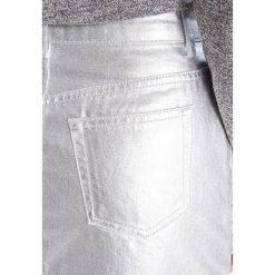 Minispódniczki: Topshop Petite Spódnica jeansowa silver