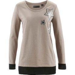 Bluzy damskie: Bluza bonprix brunatny melanż