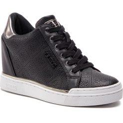 Sneakersy GUESS - FL5FWU FAL12 BLACK. Czarne sneakersy damskie marki Guess, z materiału. Za 549,00 zł.