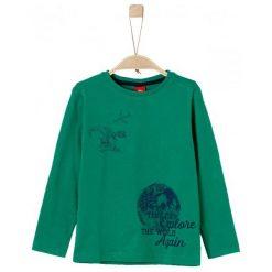 S.Oliver Koszulka Chłopięca Kula Ziemska 116 - 122 Zielony. Białe t-shirty chłopięce marki 4F JUNIOR, na lato, z dzianiny, z dekoltem na plecach. Za 39,00 zł.