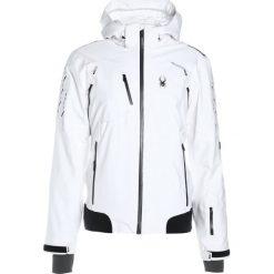 Kurtki narciarskie męskie: Spyder PINNACLE Kurtka narciarska white/white carbon emboss/black