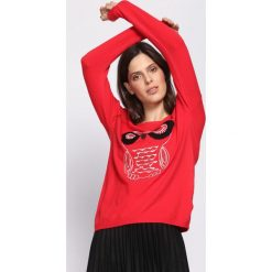 Czerwona Bluzka Eyesight. Czerwone bluzki asymetryczne Born2be, l, z długim rękawem. Za 39,99 zł.