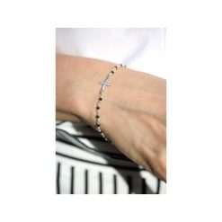 Bransoletka Spinel srebro. Czarne bransoletki damskie na nogę marki Brazi druse jewelry, srebrne. Za 150,00 zł.