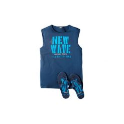 T-shirt bez rękawów męski z printem. Niebieskie t-shirty męskie TXM, m. Za 9,99 zł.