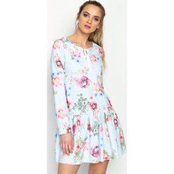 Sukienki: Niebiesko-Różowa Sukienka Baylor
