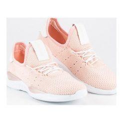 Tenisówki damskie: Merg pudrowe wsuwane trampki różowe