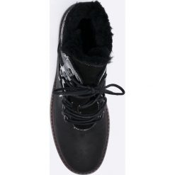 Emu Australia - Botki Primrose Sands. Czarne buty zimowe damskie EMU Australia, z materiału, na obcasie, na sznurówki. W wyprzedaży za 369,90 zł.
