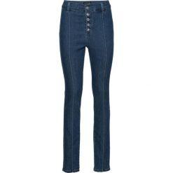 """Dżinsy """"push up"""" z wysoką talią bonprix niebieski """"stone"""". Niebieskie jeansy damskie bonprix. Za 79,99 zł."""