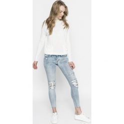Tally Weijl - Jeansy. Niebieskie jeansy damskie rurki TALLY WEIJL, z bawełny. Za 169,90 zł.