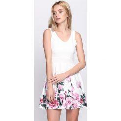 Sukienki: Biało-Różowa Sukienka Eyes On You