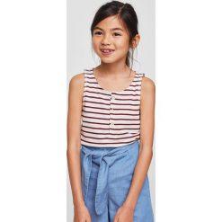 Mango Kids - Top dziecięcy Wanda 110-164 cm. Szare bluzki dziewczęce Mango Kids, z bawełny, z okrągłym kołnierzem. Za 49,90 zł.