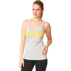 Adidas Koszulka Essentials Linear Tank szara r. L (AY4841). Szare topy sportowe damskie marki Adidas, l, z dresówki, na jogę i pilates. Za 55,46 zł.