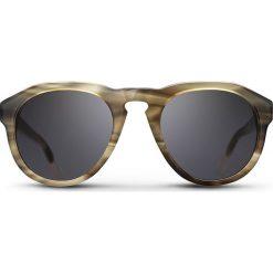 """Okulary przeciwsłoneczne męskie: Okulary przeciwsłoneczne """"Smoke Damien"""" w kolorze beżowo-szarym"""