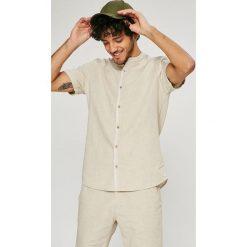 Medicine - Koszula Basic. Szare koszule męskie na spinki MEDICINE, l, z bawełny, ze stójką, z krótkim rękawem. W wyprzedaży za 59,90 zł.